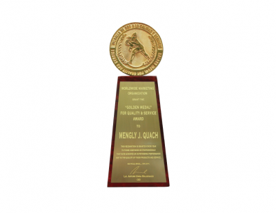 Golden Medal For Quality & Service Award 2014, Sao Paulo, Brazil