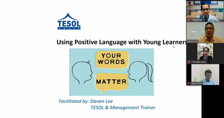 Workshop on: Using Positive Language with Young Learners